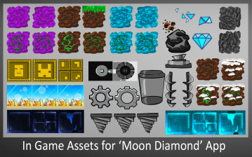 In Game Assets for Moon Diamond App