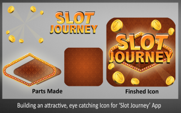 Building an attractive, eye catching Icon for Slot Journey App