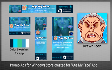 Promo Ads for Windows Store Created for Age My Face App