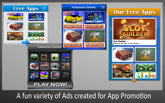 Ads Created for App Promotion