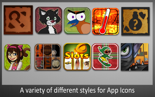 A Variety of App Icons