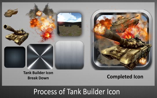 Process of Tank Builder Icon