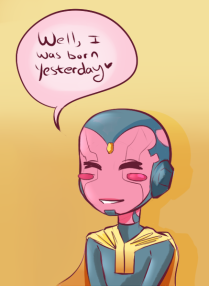 cute chibi of Vision from Avengers 2