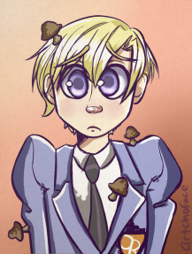 Tamaki from Ouran High Host Club colored sketch